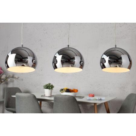 CROMO függesztett lámpa 3 db-os - ezüst