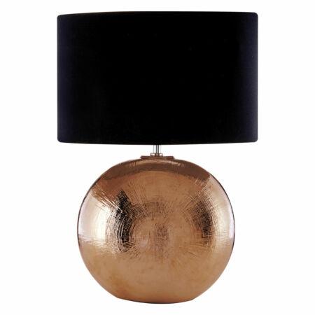 Rosé asztali lámpa Fekete búrával