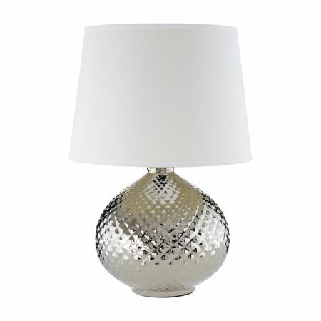NewCroco Ezüst asztali lámpa - Fehér búrával