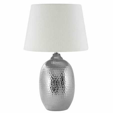 Croco Ezüst asztali lámpa Bézs búrával - Nagy