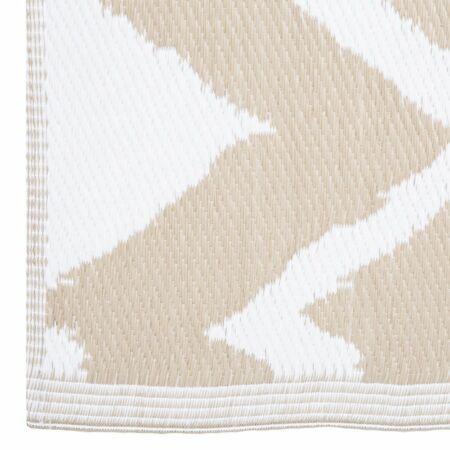 Corfu kültéri szőnyeg Bézs-fehér - 150x90 cm