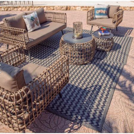 Naxos kültéri szőnyeg Bézs - Fekete - 160x230 cm
