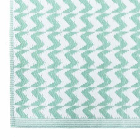 Naxos kültéri szőnyeg Zöld-fehér - 90x150 cm