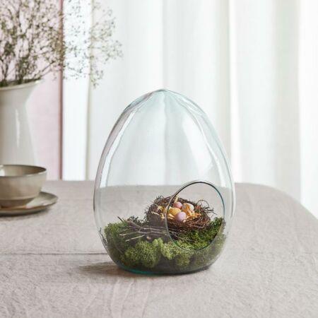 Húsvéti tojásos üvegdísz - 26 x 20 cm - apró szépséghibás