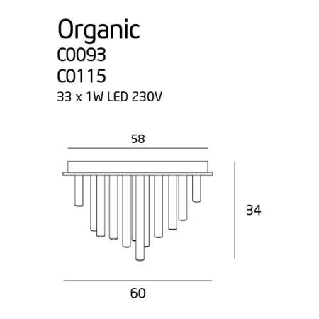Organic grande mennyezeti lámpa_króm