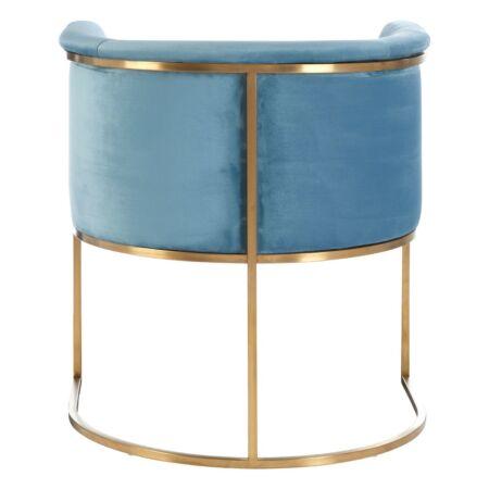 Mia bársony fotel - kék