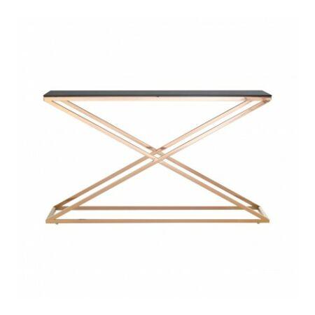Mex konzolasztal - arany, üveg
