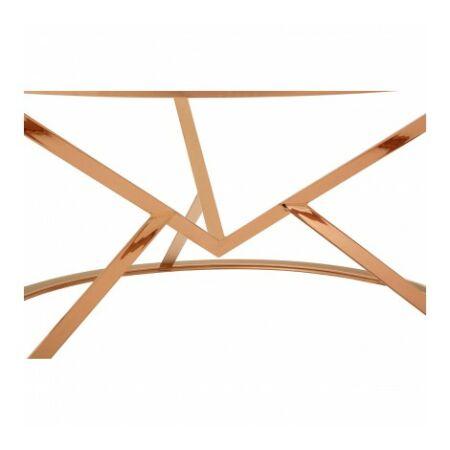 Rella Round dohányzóasztal - vörös arany, üveg