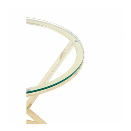 Rella Round konzolasztal - arany, üveg