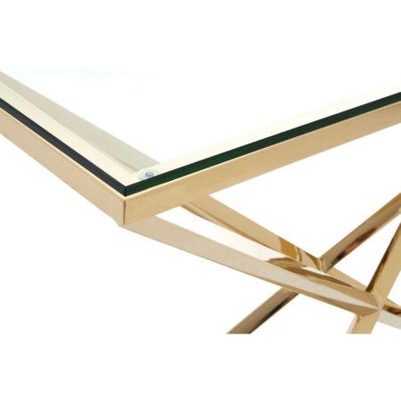 Rella Diamond konzolasztal - arany, üveg  NAGY
