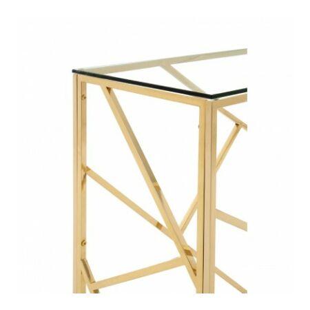 Rella konzolasztal - arany, üveg