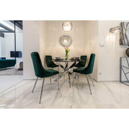 Allure étkezőasztal üveg asztallappal - 130x75 cm