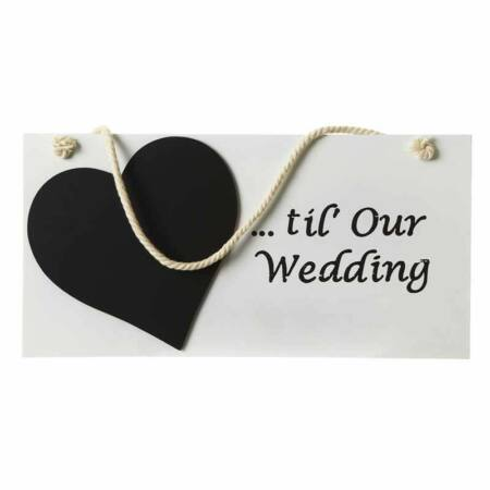 """Esküvői Dísz """"Days Til Our Wedding"""""""
