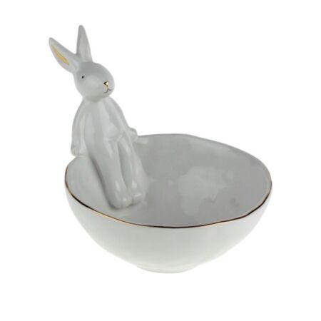 Nyuszis tál - 15x19x14,5 cm