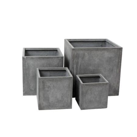 Fiby Kültéri 4 db-os kocka kaspószett - beton