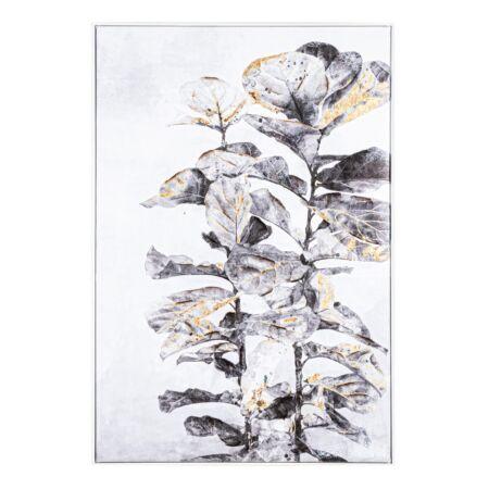 Plant olajfestmény szürke, arany 82x122 cm