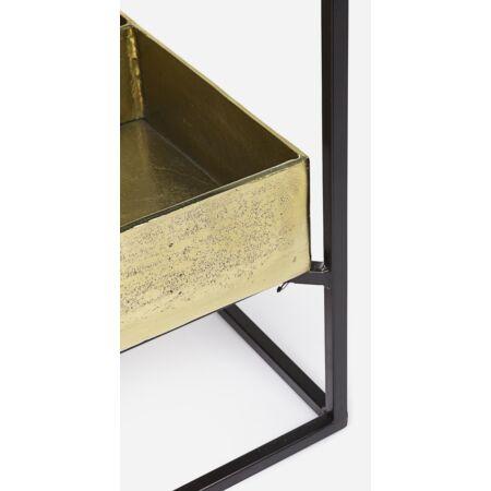 Laguna dohányzóasztal arany, fekete 62x62 cm