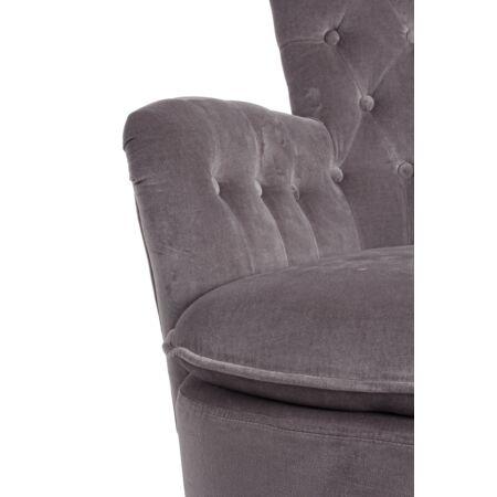 Orlis bársony fotel szürke