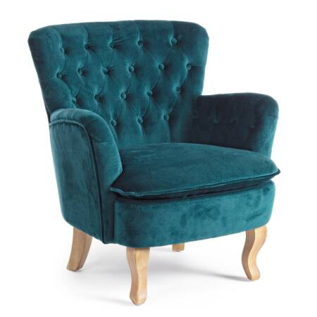 Orlis bársony fotel zöld