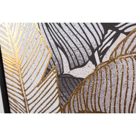 Palma olajfestmény arany fóliával 82x122 cm