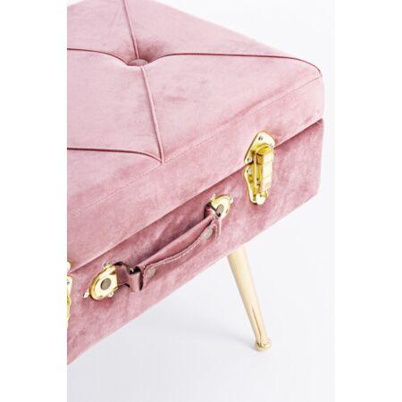 Nux bársony szék tárolóval - pink