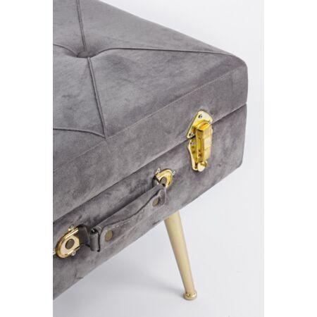 Nux bársony szék tárolóval - szürke