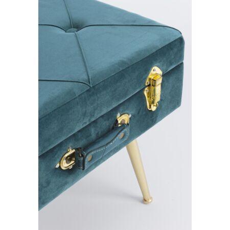 Nux bársony szék tárolóval - zöld