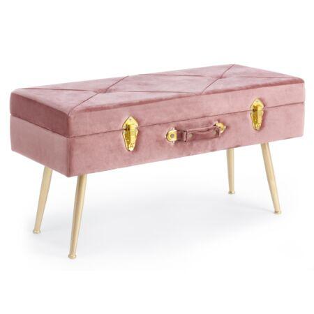 Nux bársony pad tárolóval - pink