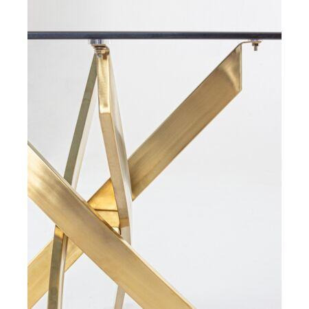 Leona étkezőasztal üveg asztallappal - 160x90x75 cm