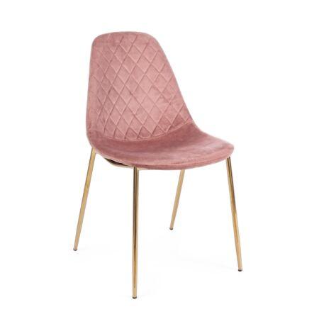 Ramona bársony szék - rózsaszín