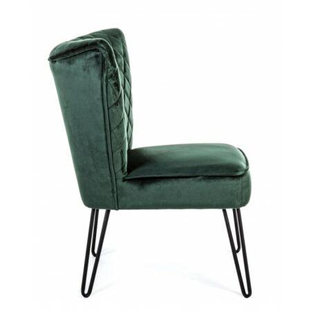 Baltazar fotel bársony, zöld