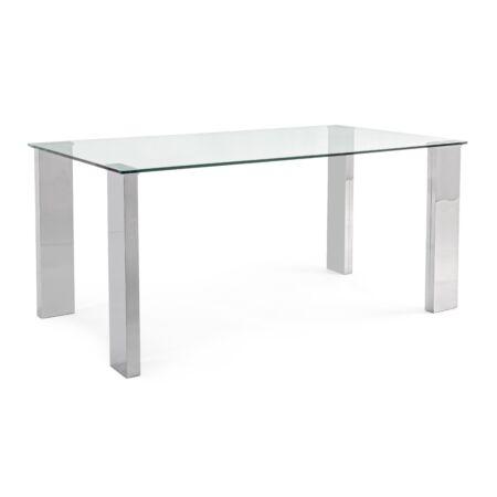 Arly étkezőasztal üveg asztallappal - 160x90x75 cm