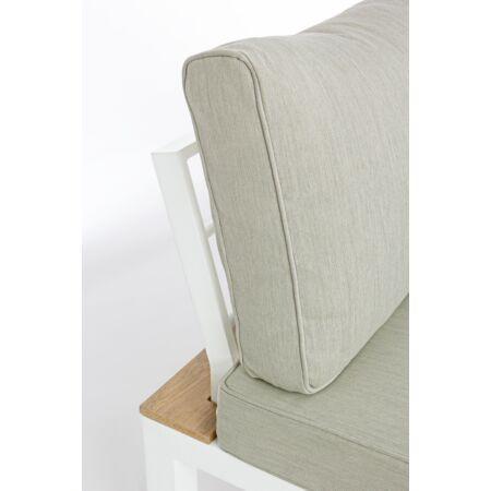 RAVELLO alumínium 4 db-os kerti bútorszett - bézs - fehér színben - Prémium minőség!