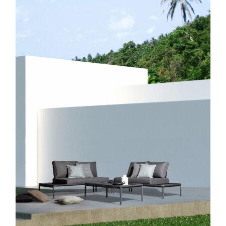 Rodri prémium kerti bútorszett - fekete - szürke