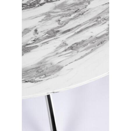 Marble étkezőasztal márvány hatású asztallappal - 110x75 cm