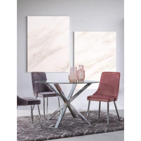 Maya étkezőasztal üveg asztallappal - 114x76 cm