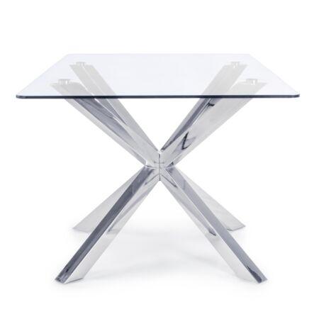 Maya étkezőasztal üveg asztallappal - 160x90x76 cm