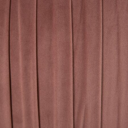 KENZA bársony puff - rózsaszín