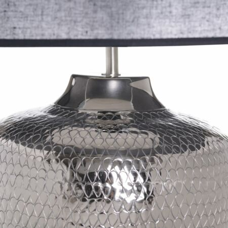 Ovo ezüst asztali lámpa - 40x58 cm
