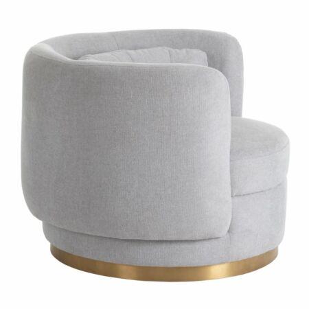 Agona bársony fotel - krémszín