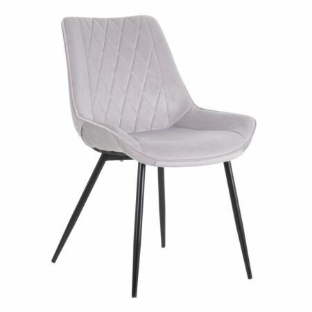 Hella bársony szék  - szürke