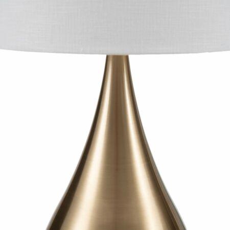 Metal arany asztali lámpa - 25x46 cm