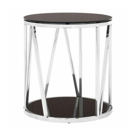 Vario kör kisasztal - króm