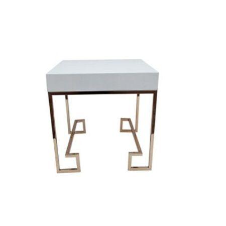 Allure Asztalka 55 cm Fehér - Rosé Arany