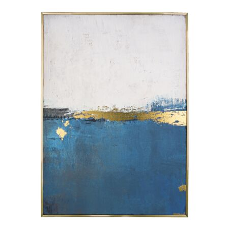 Gold and Blue - Festmény
