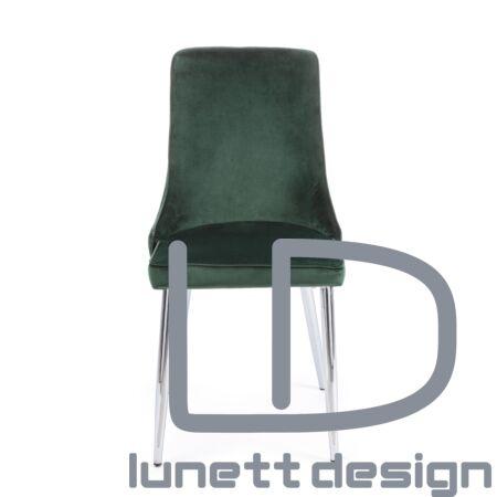 Amelia szék - sötétzöld kárpittal