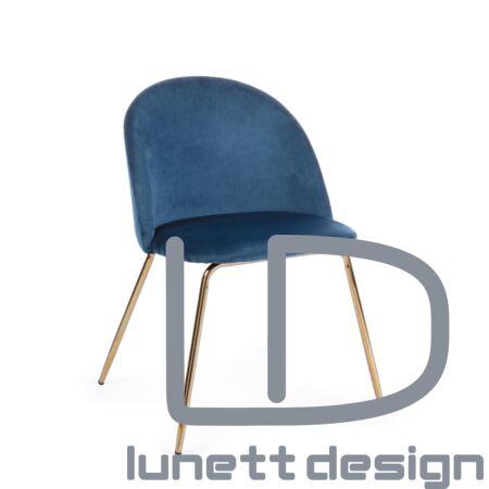 Tamara bársony szék - kék