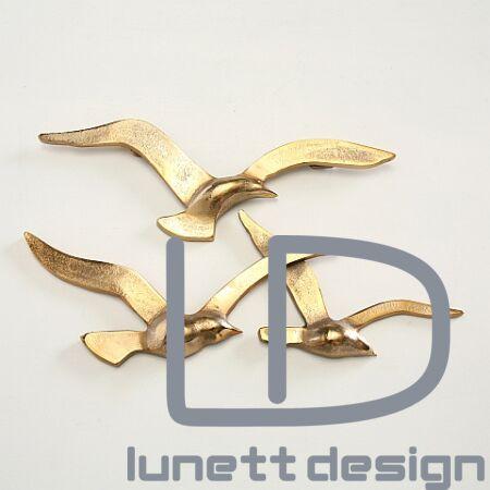 Seagull arany sirály fali dekoráció - 35 cm