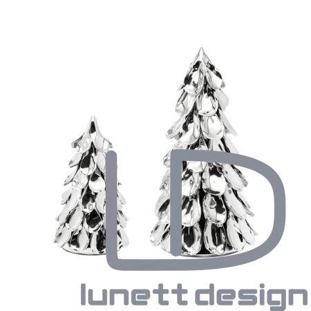 Juno ezüst fenyőfa dísz - 33 cm