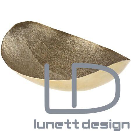 """""""Zucca"""" arany ovális tál - 33 cm"""